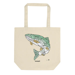 Trout Tote Bag by Nicole Josie