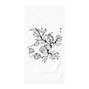 Two Birds Towel by Miigizi