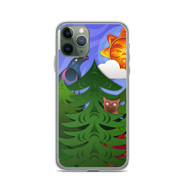 Forest Friends by Ovila Mailhot iPhone Case