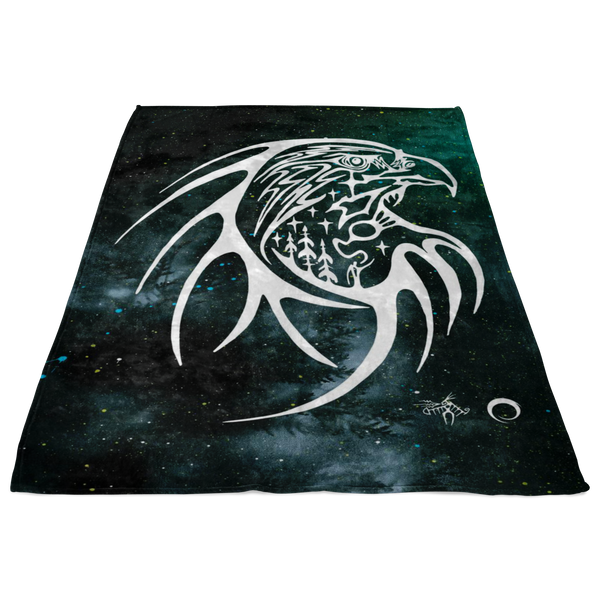 Eagle Fleece Blanket by Miigizi