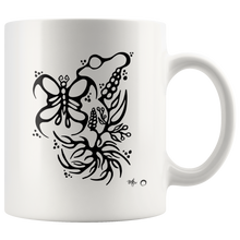 Butterfly & Floral Mug by Miigizi
