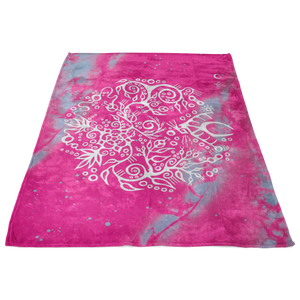 Wild Rose & Rose Hips Fleece Blanket by Miigizi