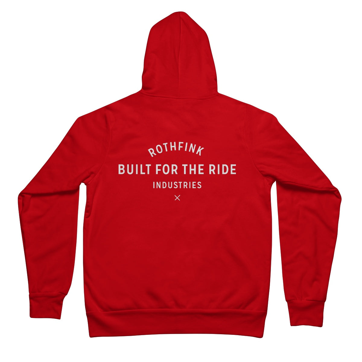 'Built for the ride' Full Zip Hoodie (front / back - unisex)
