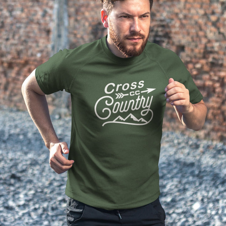 MAN RUNNING WEARING CROSS COUNTRY VINTAGE T-SHIRT