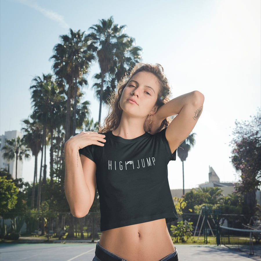 HIGH JUMPER WOMEN WEARING HIGH JUMP CROP TOP
