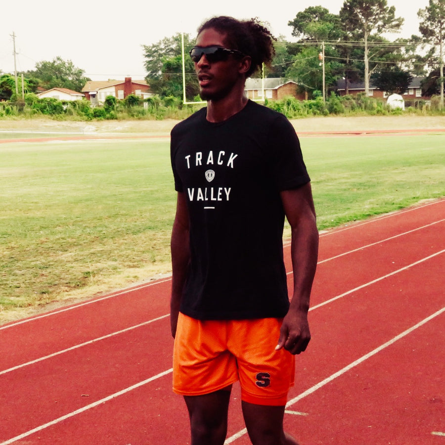 JARRET EATON WEARING TRACK VALLEY TEE