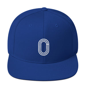 TRACK AND FIELD SNAPBACK HAT BLUE