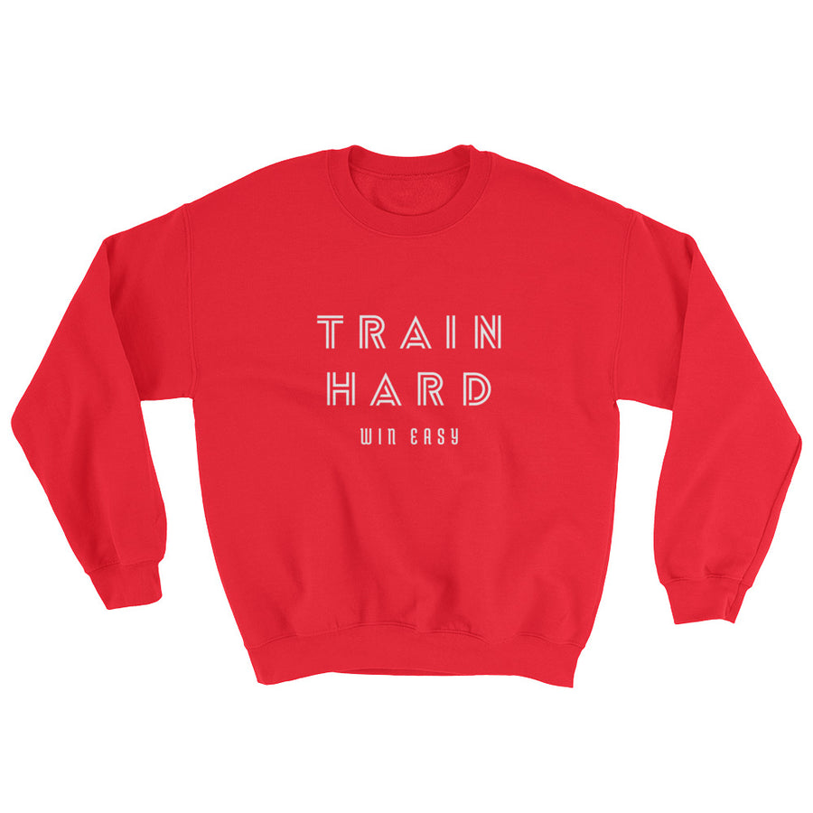 TRAIN HARD WOMEN'S SWEATSHIRT RED