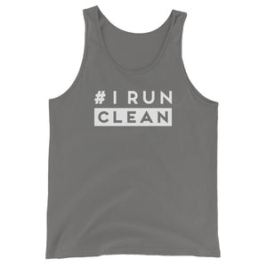 I Run Clean Men's Tank Top gray