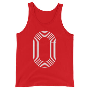 TRACK OUTLINE MEN'S TANK TOP  RED