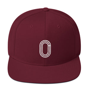 TRACK AND FIELD SNAPBACK HAT MAROON
