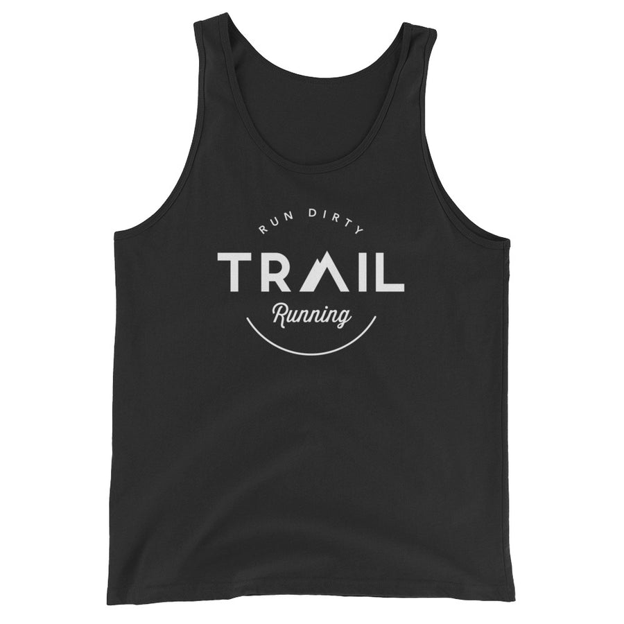 TRAIL RUNNING MEN'S TANK TOP BLACK