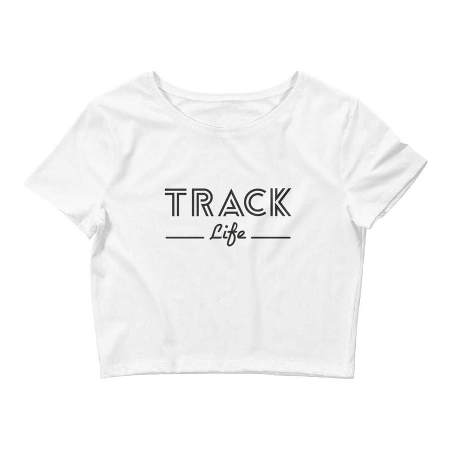 TRACK LIFE WOMEN'S CROP T-SHIRT WHITE