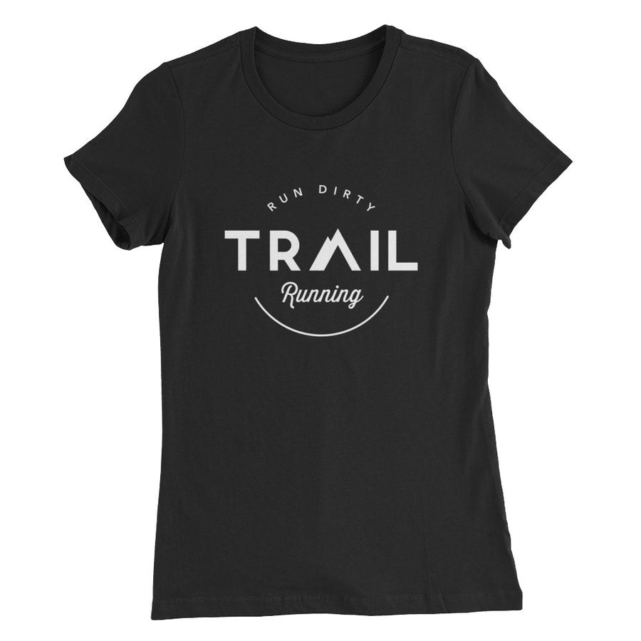 TRAIL RUNNING WOMEN'S T-SHIRT BLACK