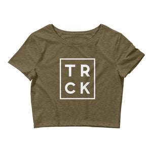 TRCK WOMEN'S CROP T-SHIRT OLIVE