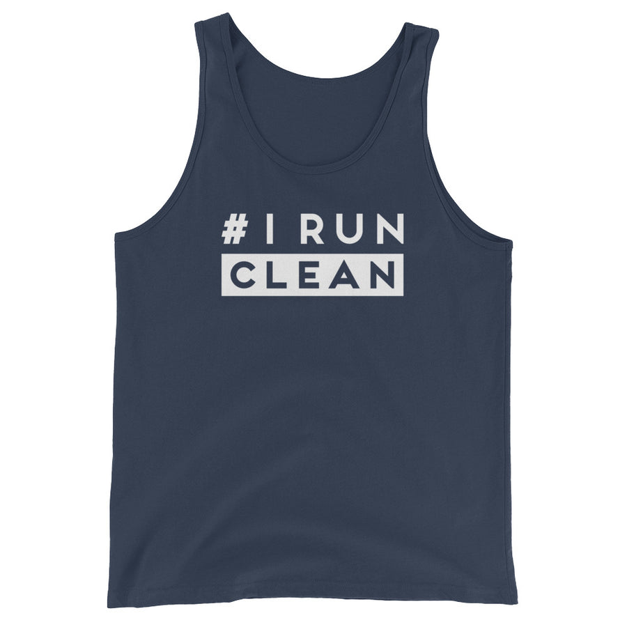 I Run Clean Men's Tank Top navy