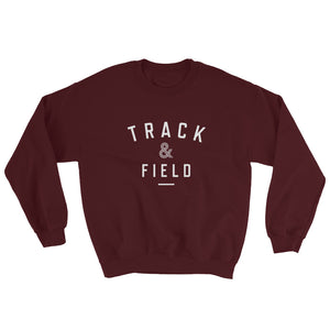 TRACK & FIELD MEN'S SWEATSHIRT MAROON