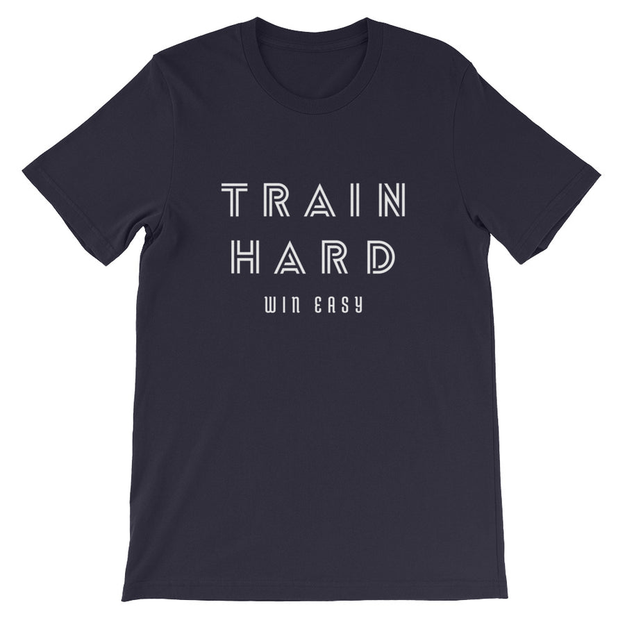 TRAIN HARD WIN EASY MEN'S T-SHIRT NAVY