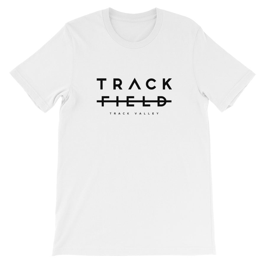 TRACK NOT FIELD MEN'S T-SHIRT BLACK WHITE