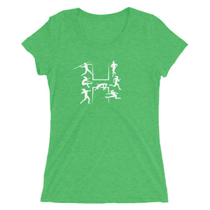HEPTATHLON WOMEN'S T-SHIRT GREEN