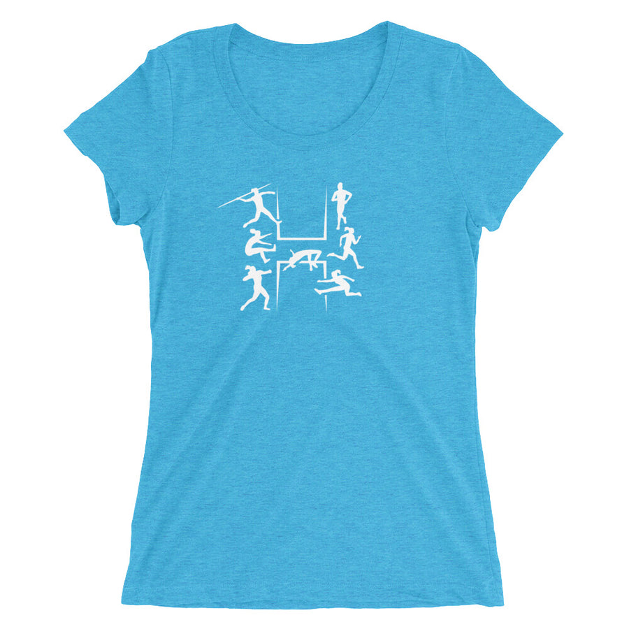 HEPTATHLON WOMEN'S T-SHIRT BLUE