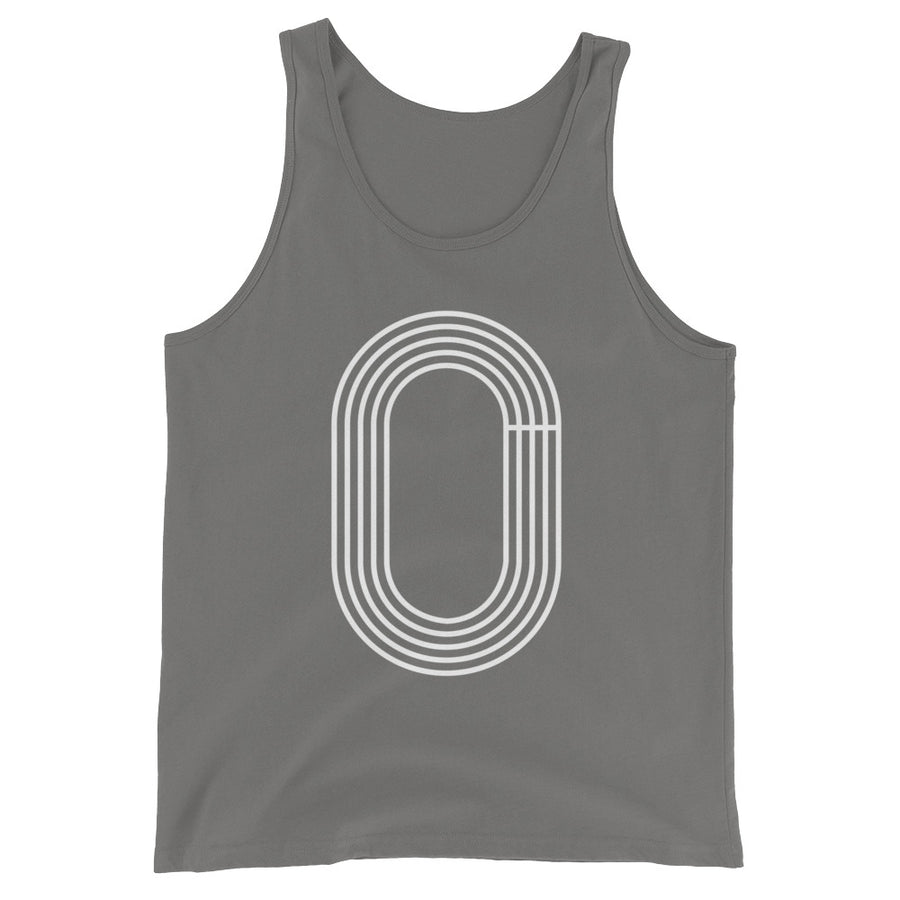 TRACK OUTLINE MEN'S TANK TOP  GRAY