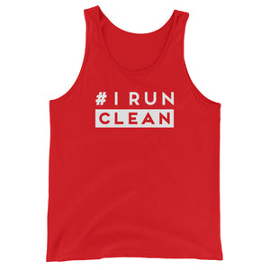 I Run Clean Men's Tank Top red
