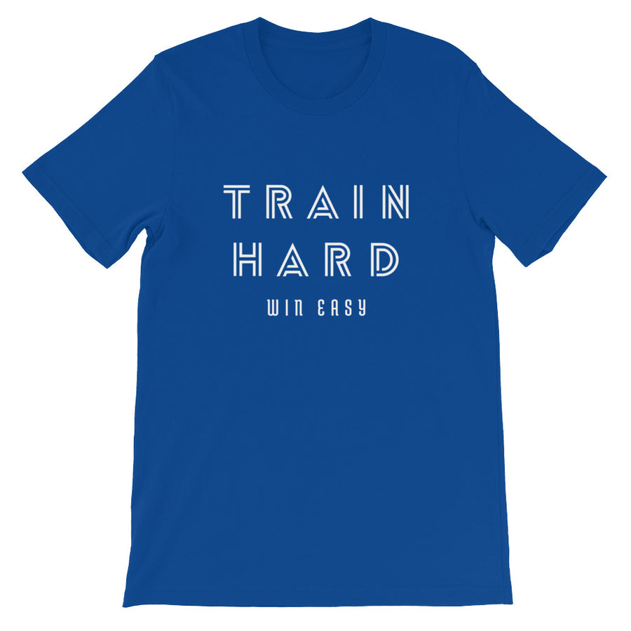 TRAIN HARD WIN EASY MEN'S T-SHIRT BLUE