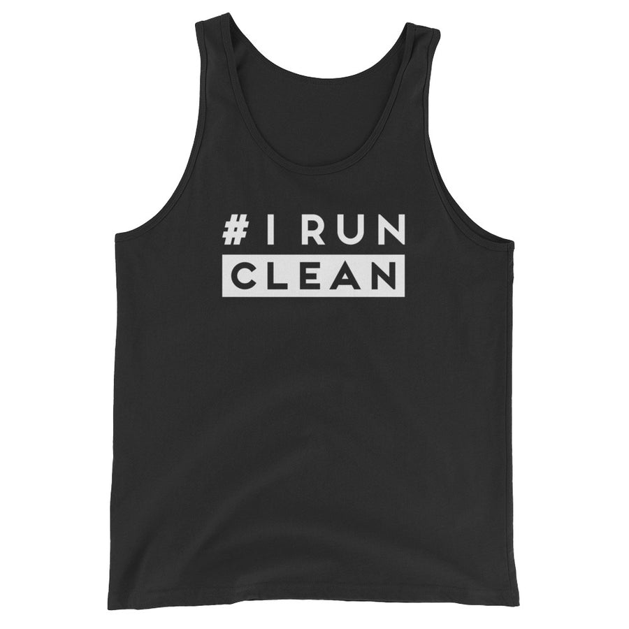 I Run Clean Men's Tank Top black