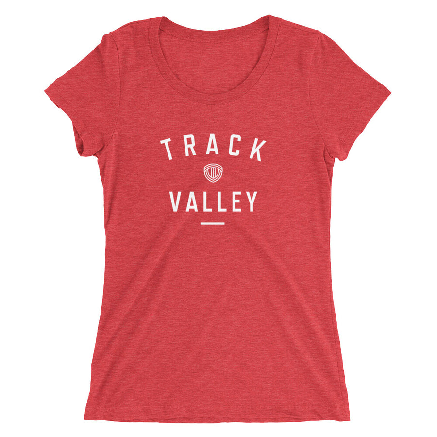 TRACK VALLEY VINTAGE WOMEN'S T-SHIRT RED