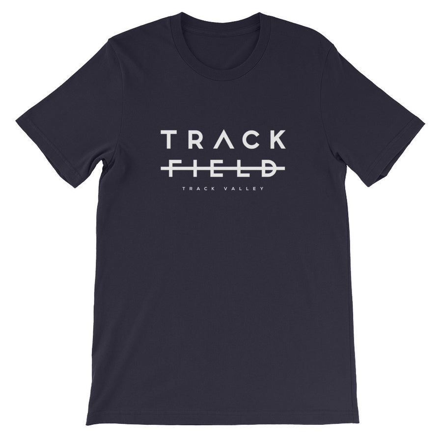 TRACK NOT FIELD MEN'S T-SHIRT BLACK NAVY