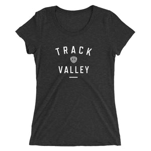 TRACK VALLEY VINTAGE WOMEN'S T-SHIRT BLACK