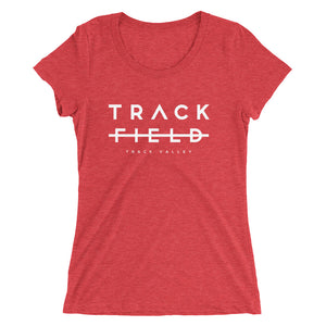 TRACK NOT FIELD WOMEN'S T-SHIRT RED