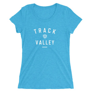 TRACK VALLEY VINTAGE WOMEN'S T-SHIRT BLUE