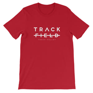 TRACK NOT FIELD MEN'S T-SHIRT BLACK RED