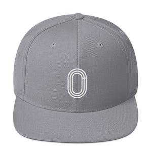 TRACK AND FIELD SNAPBACK HAT LIGHT GREY