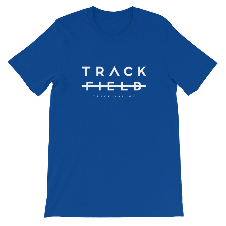 TRACK NOT FIELD MEN'S T-SHIRT BLACK BLUE