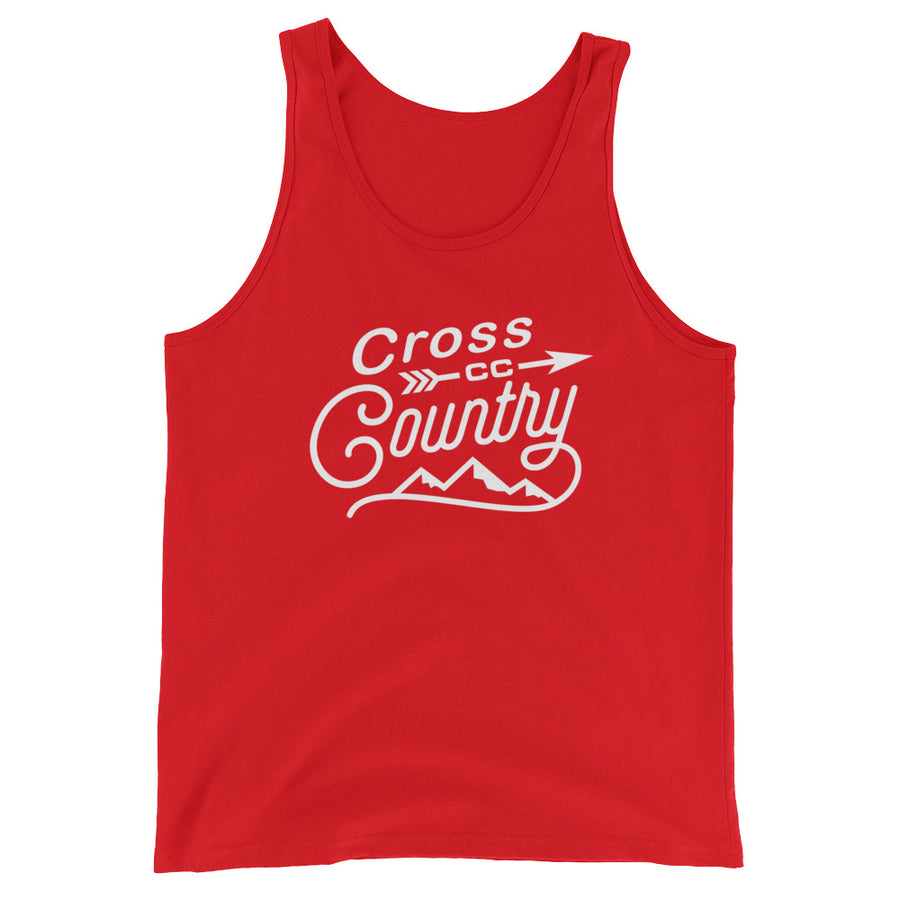 Cross Country Men's Tank Top red