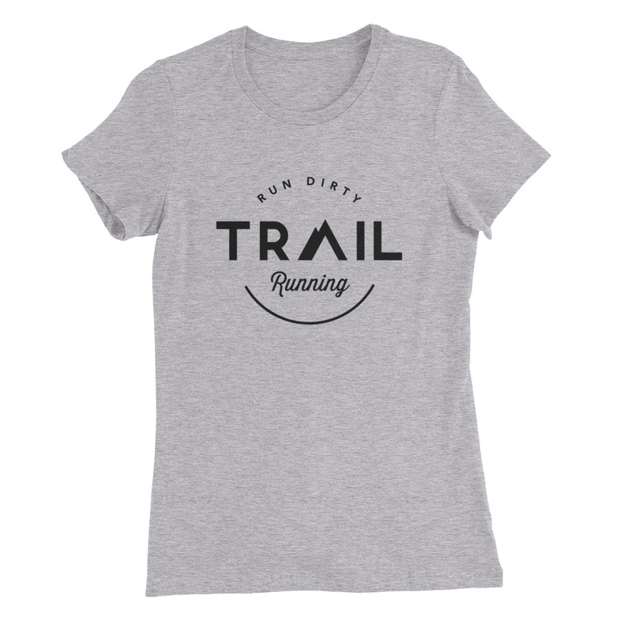 TRAIL RUNNING WOMEN'S T-SHIRT LIGHT GRAY