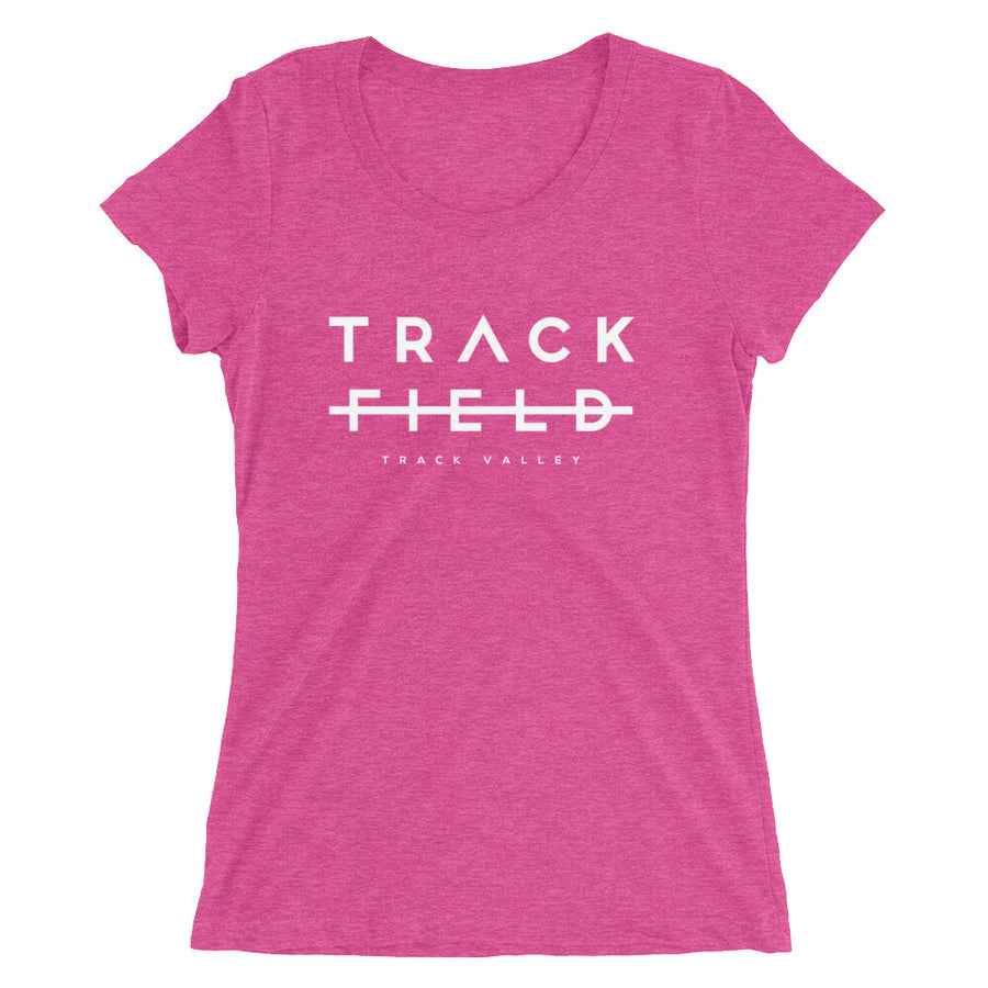 TRACK NOT FIELD WOMEN'S T-SHIRT PINK