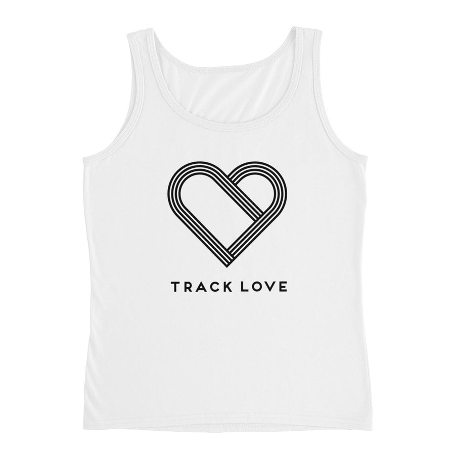 TRACK LOVE WOMEN'S TANK WHITE