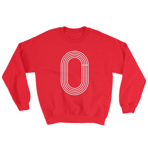 TRACK OUTLINE MEN'S SWEATSHIRT RED