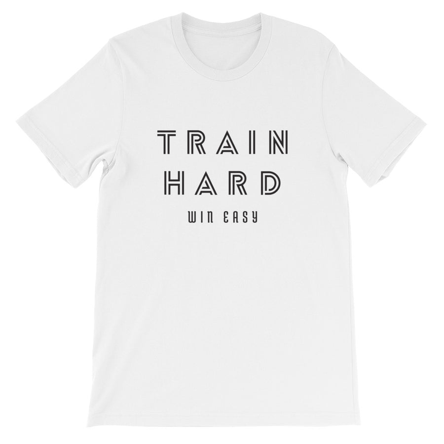 TRAIN HARD WIN EASY MEN'S T-SHIRT WHITE
