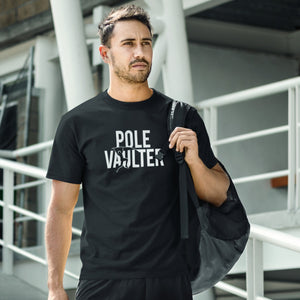 GUY WEARING POLE VAULT T-SHIRT