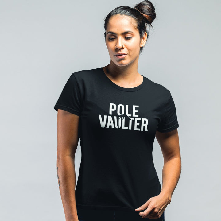 GIRL WEARING POLE VAULT T-SHIRT