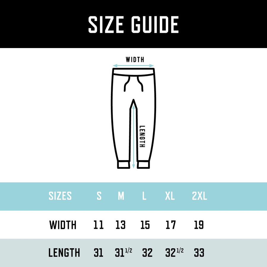 Track Valley Joggers size guide