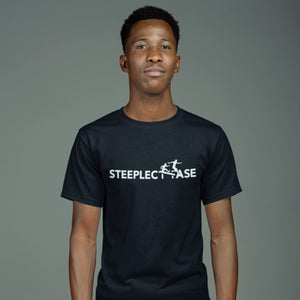 MAN WEARING STEEPLECHASE T-SHIRT