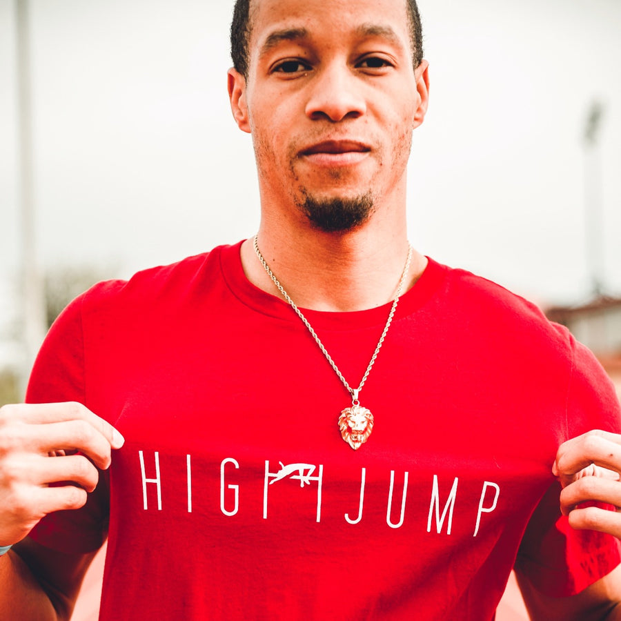 TREY CULVER WEARING HIGH JUMP T-SHIRT