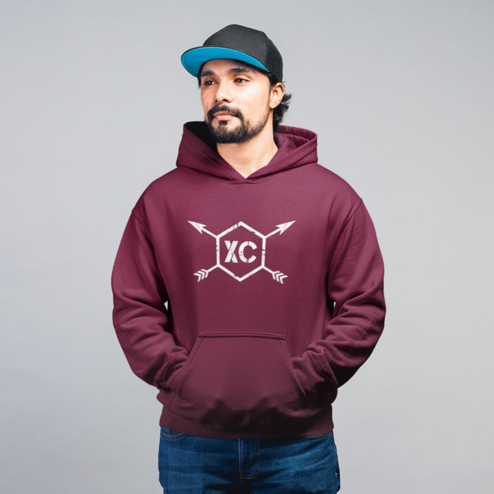 MAN WEARING X COUNTRY MEN'S HOODIE