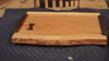 Footed Serving Board with Bow-tie Inlay